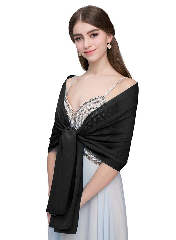 Wedding Prom Evening Bridesmaids Dress Elegant Chiffon Scarf Hijab Sarong Shawl