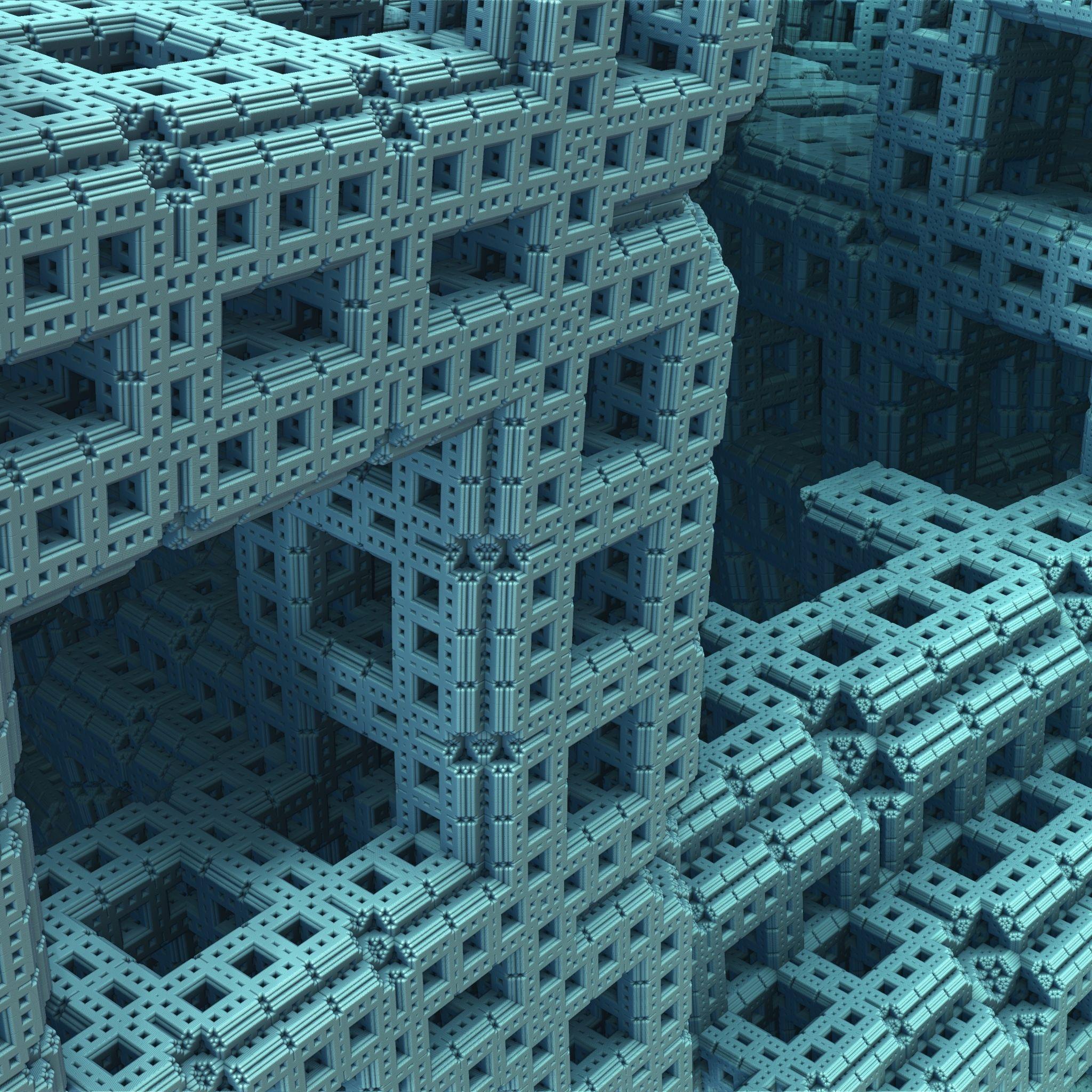 3D Fractal Surface Figure