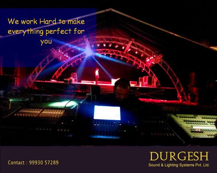 Team Durgesh works hard to bring perfection with all their advanced equipment.