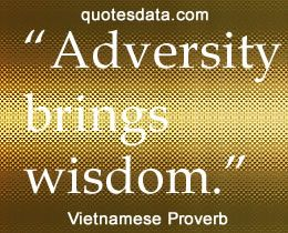 Adversity brings wisdom. - #Vietnamese Proverb | Proverbs ...