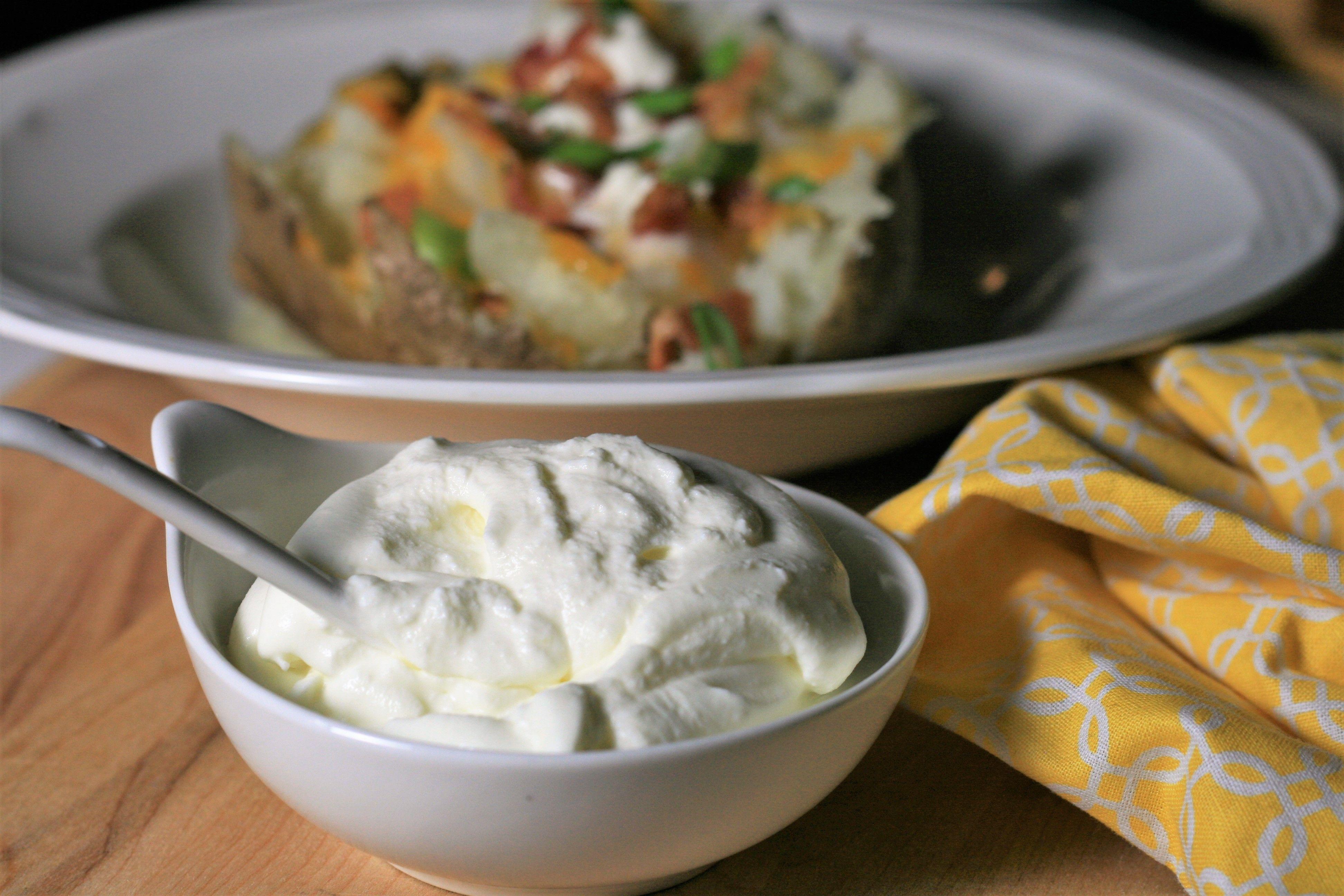Homemade Sour Cream Recipe In 2020 Homemade Sour Cream Sour Cream Recipes Homemade Sour Cream Recipe
