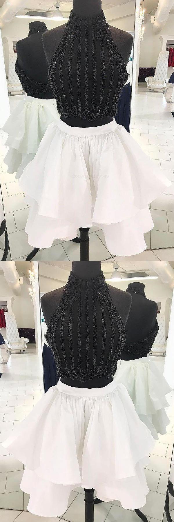 Prom dresses short black prom dresses prom dresses two piece