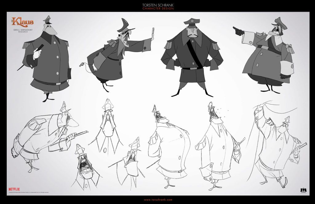Character Designs do filme Klaus, por Torsten Schrank