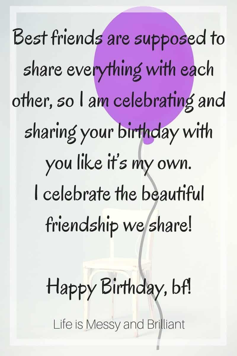 Quote Letter Birthday Fits Happy Birthday Best Friend Happy