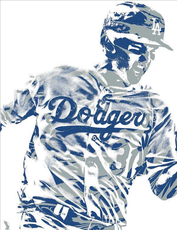 hot sale online ce3d7 5913b Joc Pederson Los Angeles Dodgers Pixel Art 10 Art Print ...