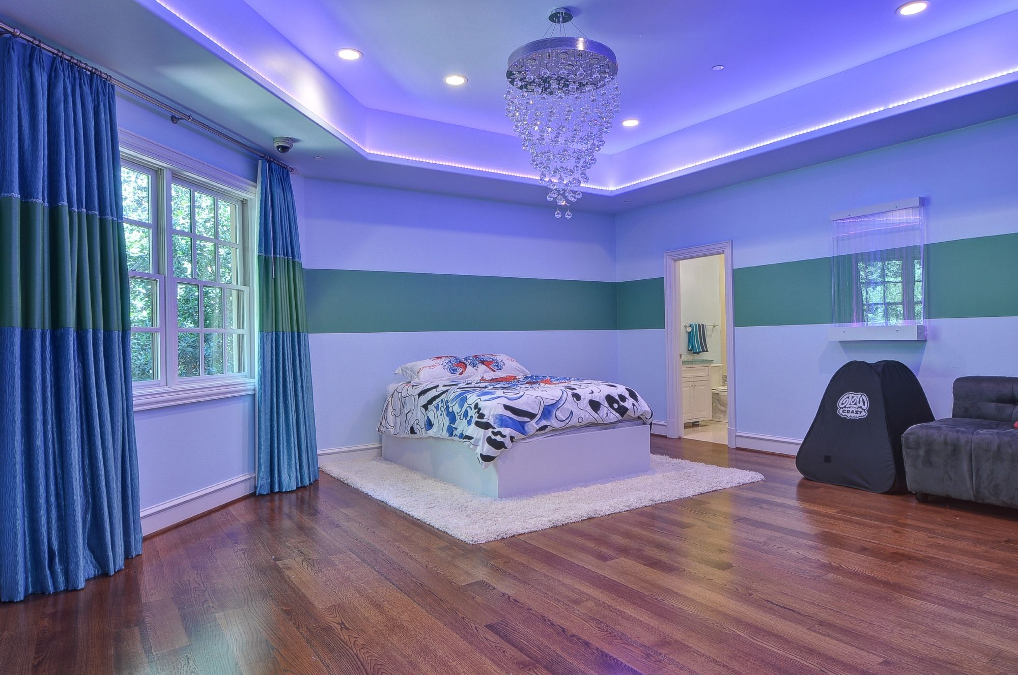 This is one of seven bedrooms at 9520 Hathaway Street in