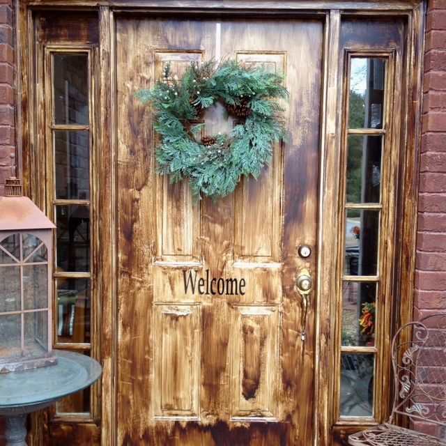 Turn A Boring Painted Metal Door Into A Wood Grain Look