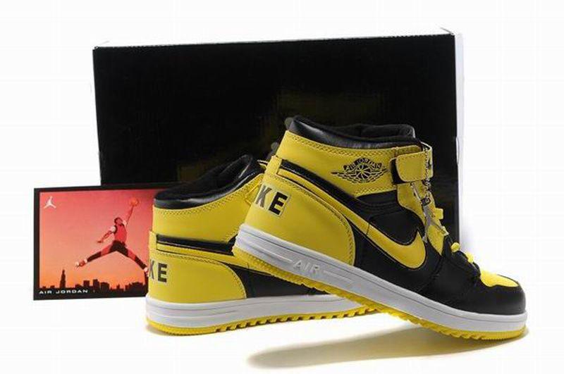 promo code 9be6f c3c25 Nike Air Jordan 1 Retro Kids Shoes Black Yellow White