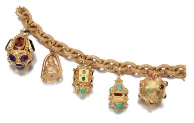Gem-set charm bracelet | lot | Sotheby's
