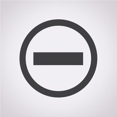 Minus Icon Symbol Sign Free Vector Illustration Icon Shield Icon