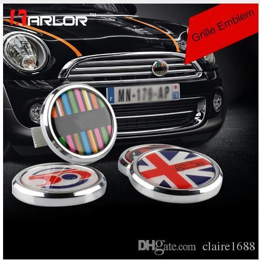 Metal Front Grill Badge w// Holder For MINI Cooper R50 R55 R56 R57 R58 R60