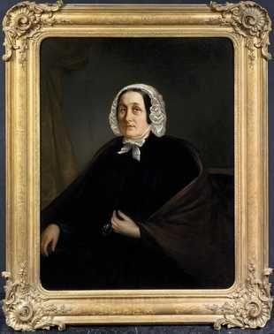 Portret van Anna Maria Agnes ten Brink (?-1859), echtgenote van Michael Anton Sinkel (ca. 1830) Anoniem Noord-Nederlands. Olieverf op doek. Inventarisnummer 26040