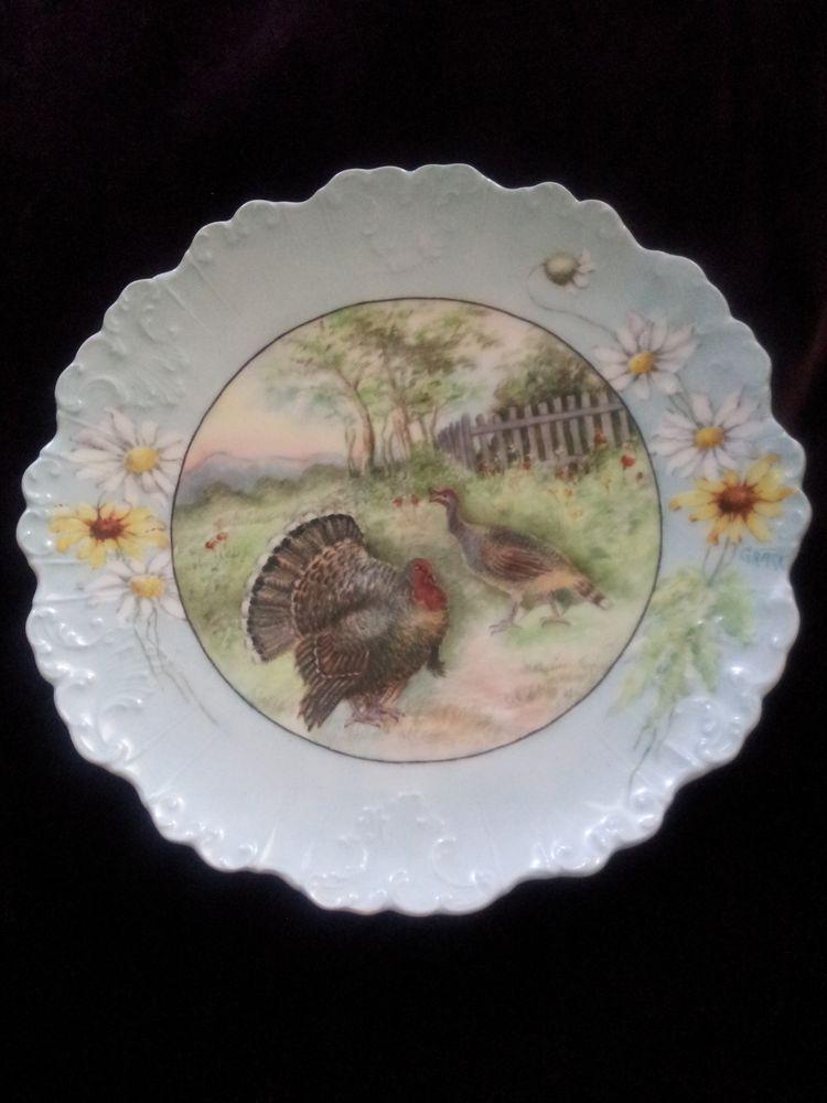 Vintage Limoges Turkey daisy Plate France #Limoges & Vintage Limoges Turkey daisy Plate France #Limoges | Turkey Platter ...