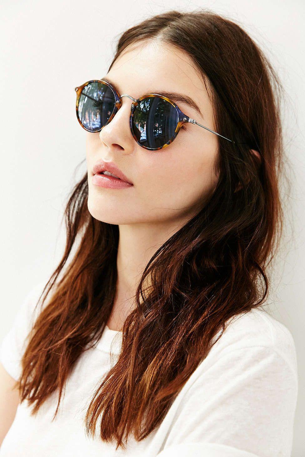 f433236b9 Os óculos redondo nunca foram tão estilosos! Super na moda ♥ #rayban  #round… Mais
