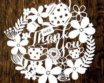 Papercut Template Thank You Teacher PDF Jpeg SVG por SASCreative