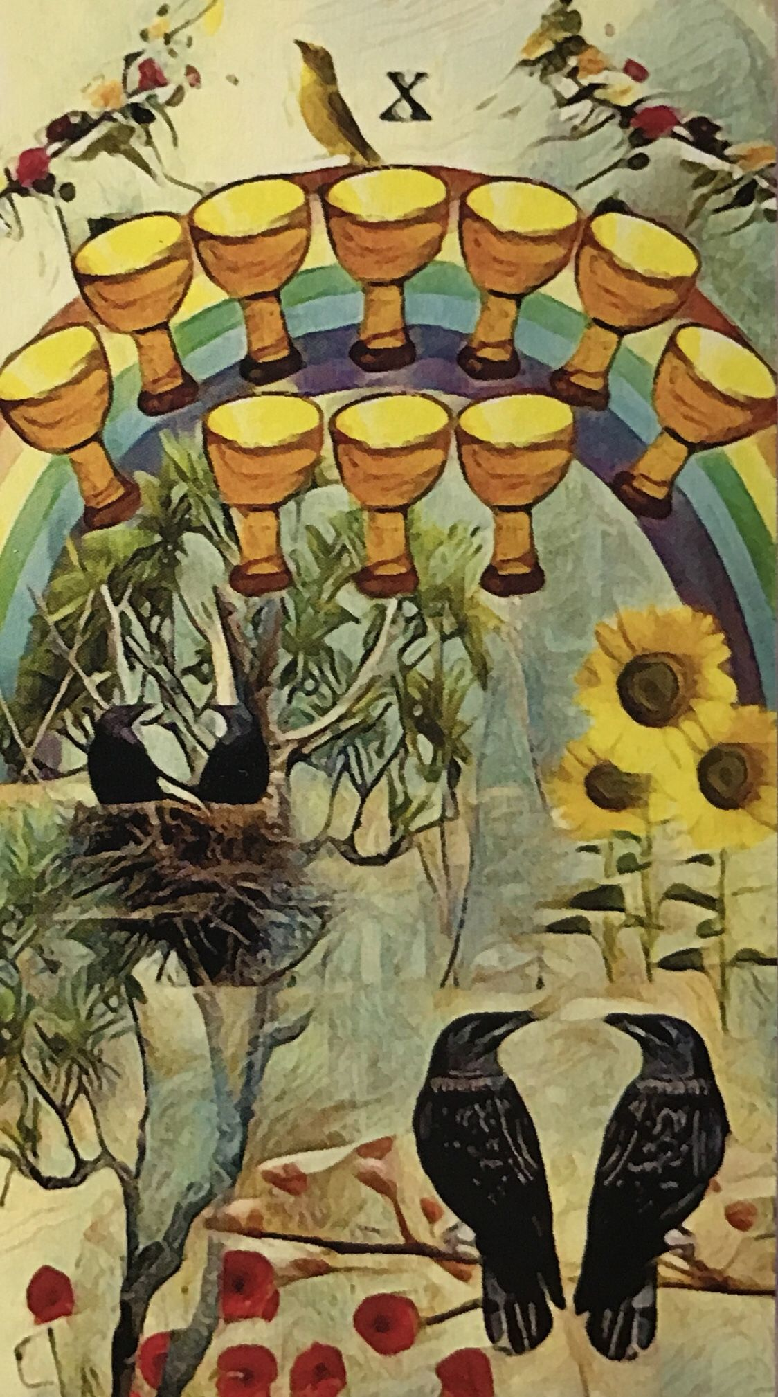 Featured card of the day 10 of cups crow tarot by mj
