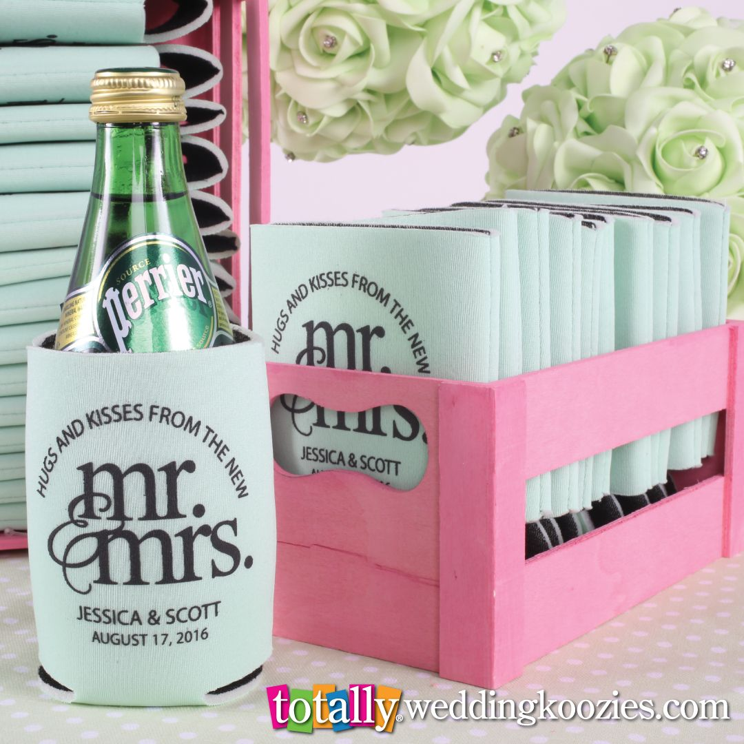 Beer bottle koozies wedding favors mini bridal for Beer koozie wedding favors