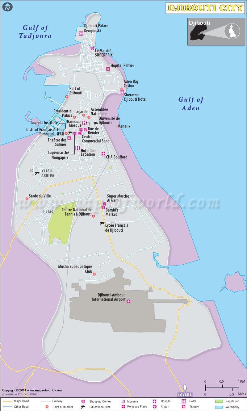 Map Of Djibouti City Capital Of Djibouti Djibouti City Map