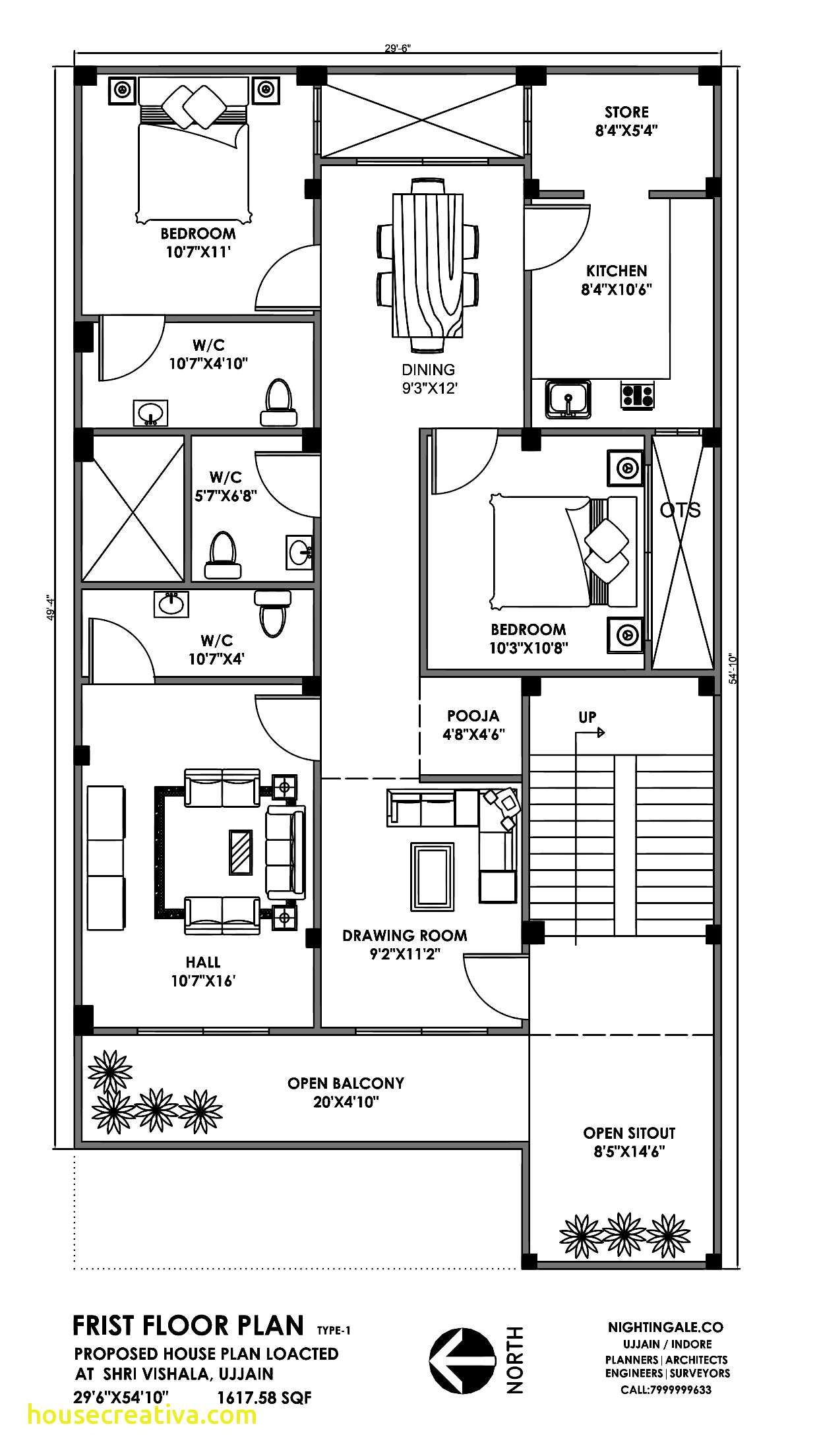 30x50 3bhk House Plan 1500sqft Little House Plans 40x60 House Plans House Plans