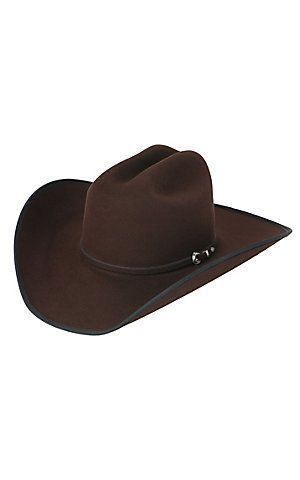 c3c0eca8e Rodeo King 7X Low Rodeo Chocolate and Black Bound Edge Felt Cowboy ...