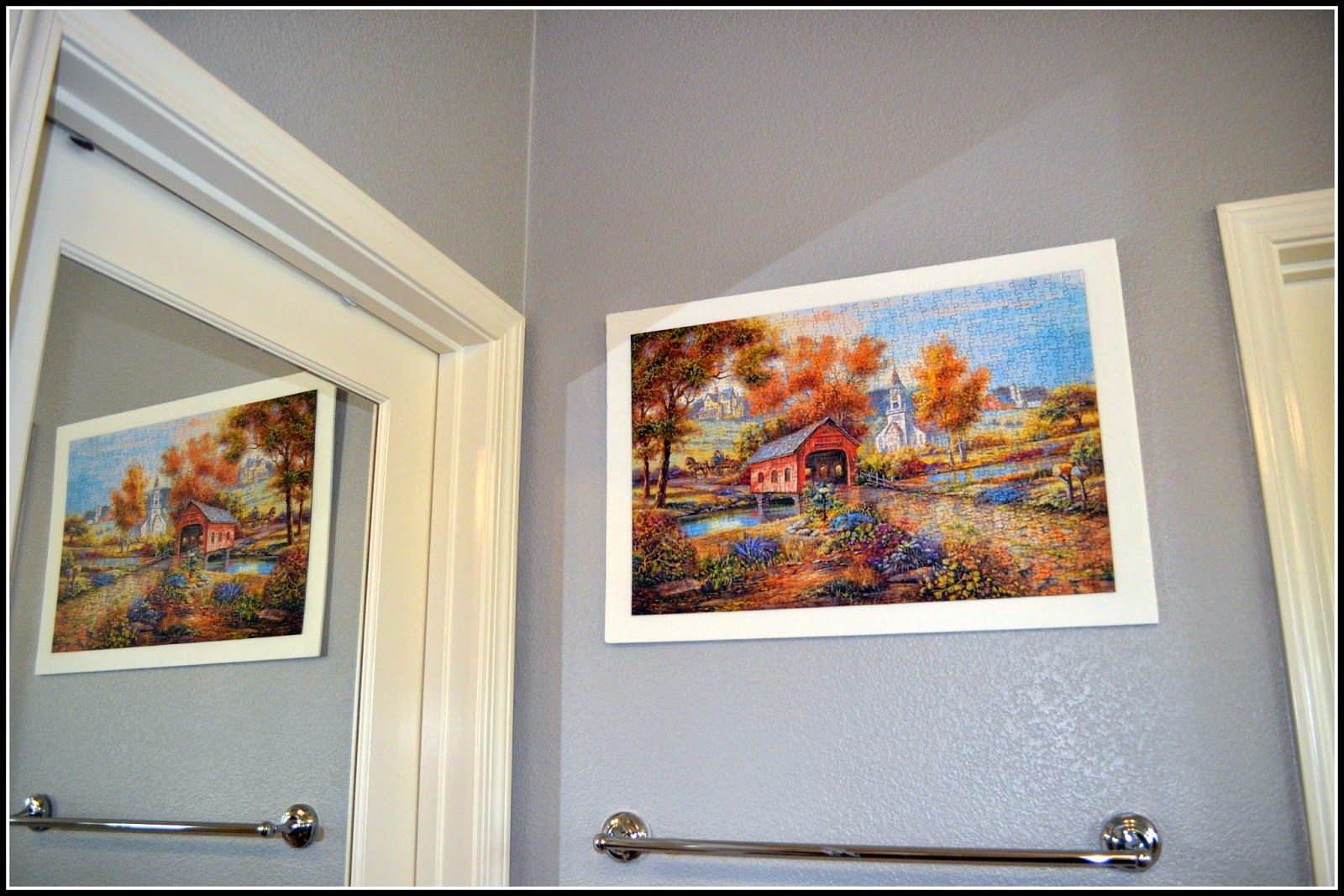 Jigsaw Puzzle As Wall Art Puzzle Crafts Wall Decorating Blogs