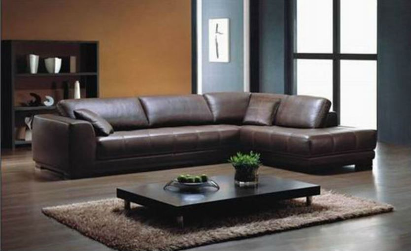 Seriena W Series Large L Shaped Sectional Sofa In Brown Top Grain