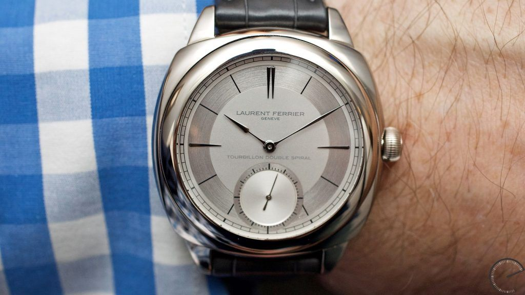 LAURENT FERRIER GALET CLASSIC SQUARE DOUBLE BALANCE-SPRING TOURBILLON SECTOR DIAL