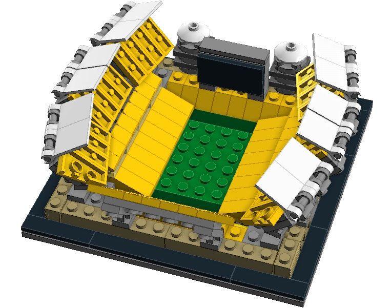 Mini Pittsburgh Steelers Heinz Field Custom Lego Set With Printed