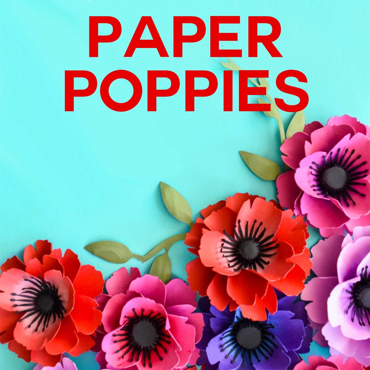 Make Paper Poppies with Free Templates Paper flowers