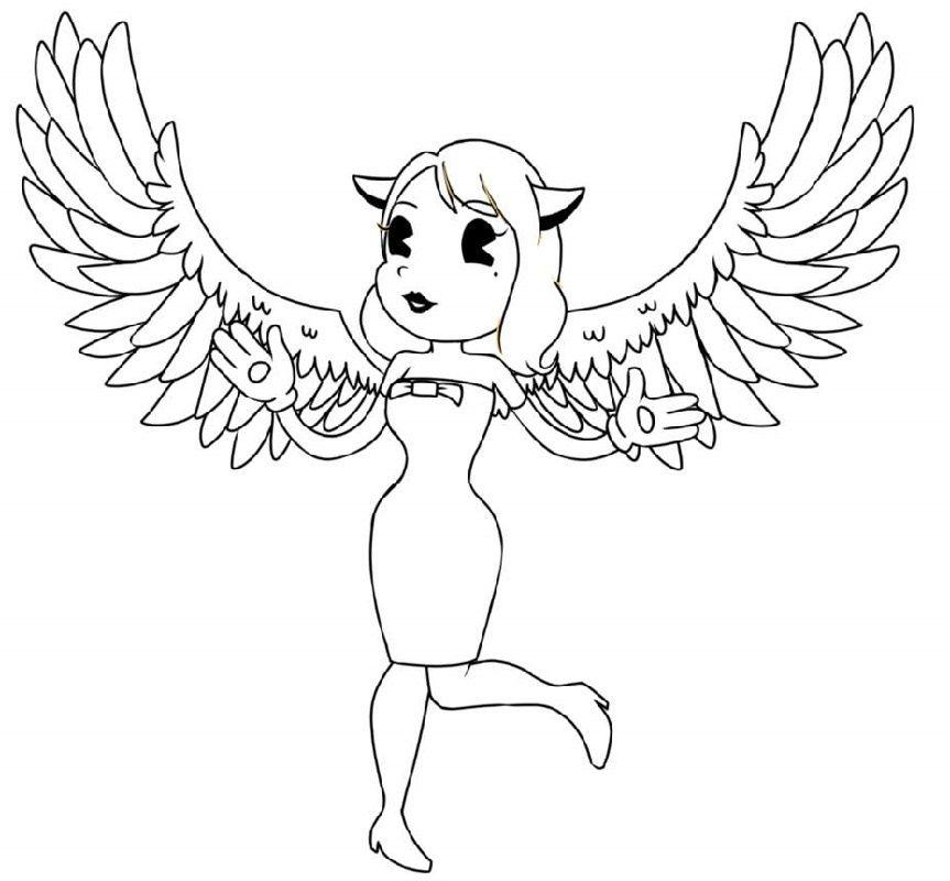 Bendy Coloring Alice Angel Angel Coloring Pages Alice Angel Coloring Pages