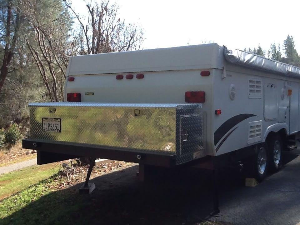 Rear Mounted Storage Box Pop Up Camper Popup Camper Camper