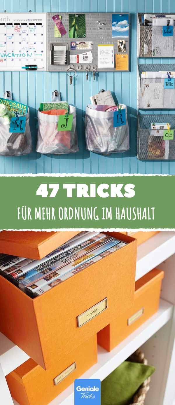 47 tricks f r ordnung im haus ordnung organisieren aufraeumen haushalt sortieren chaos. Black Bedroom Furniture Sets. Home Design Ideas