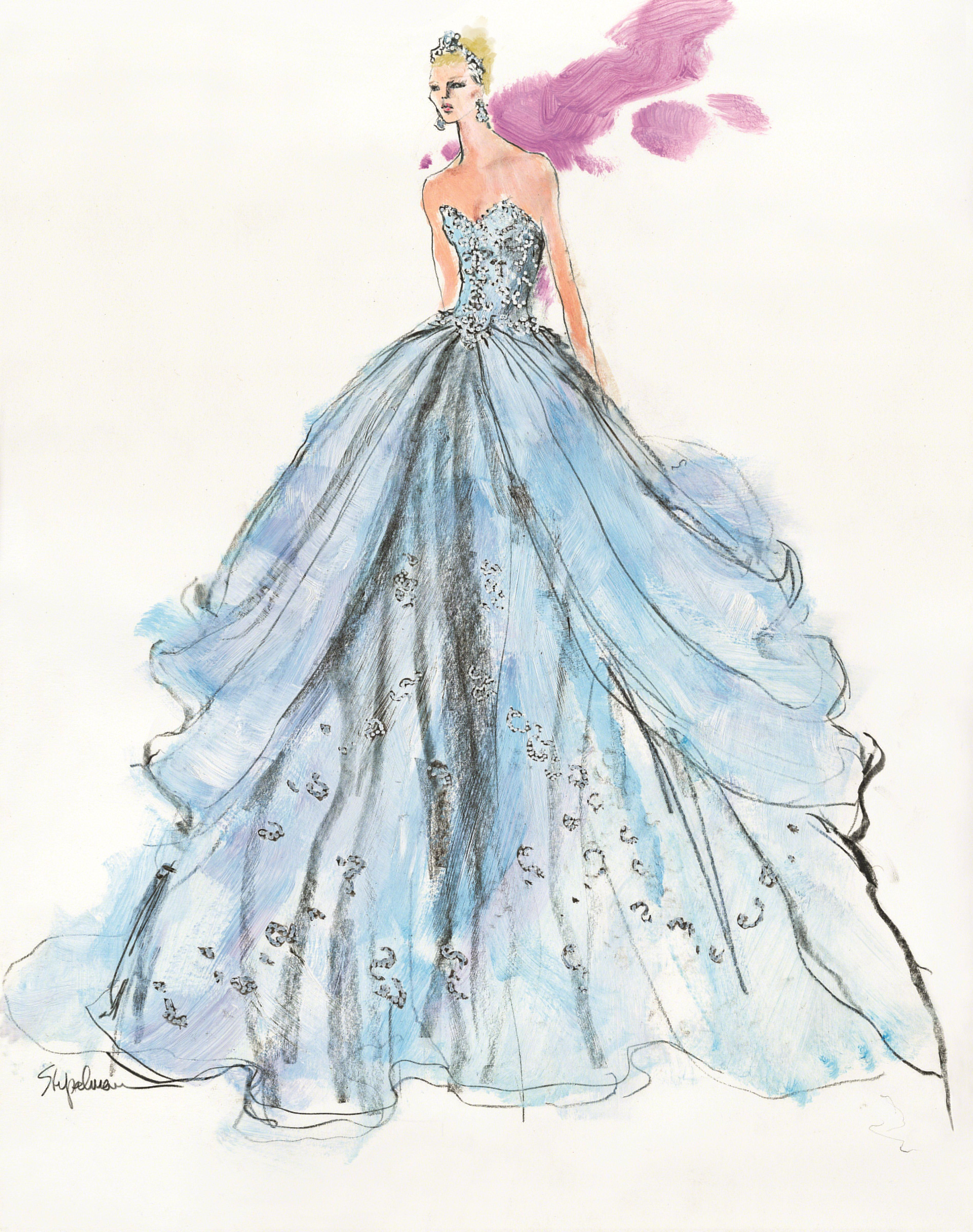 Exelent Bridal Gown Sketches Sketch - All Wedding Dresses ...