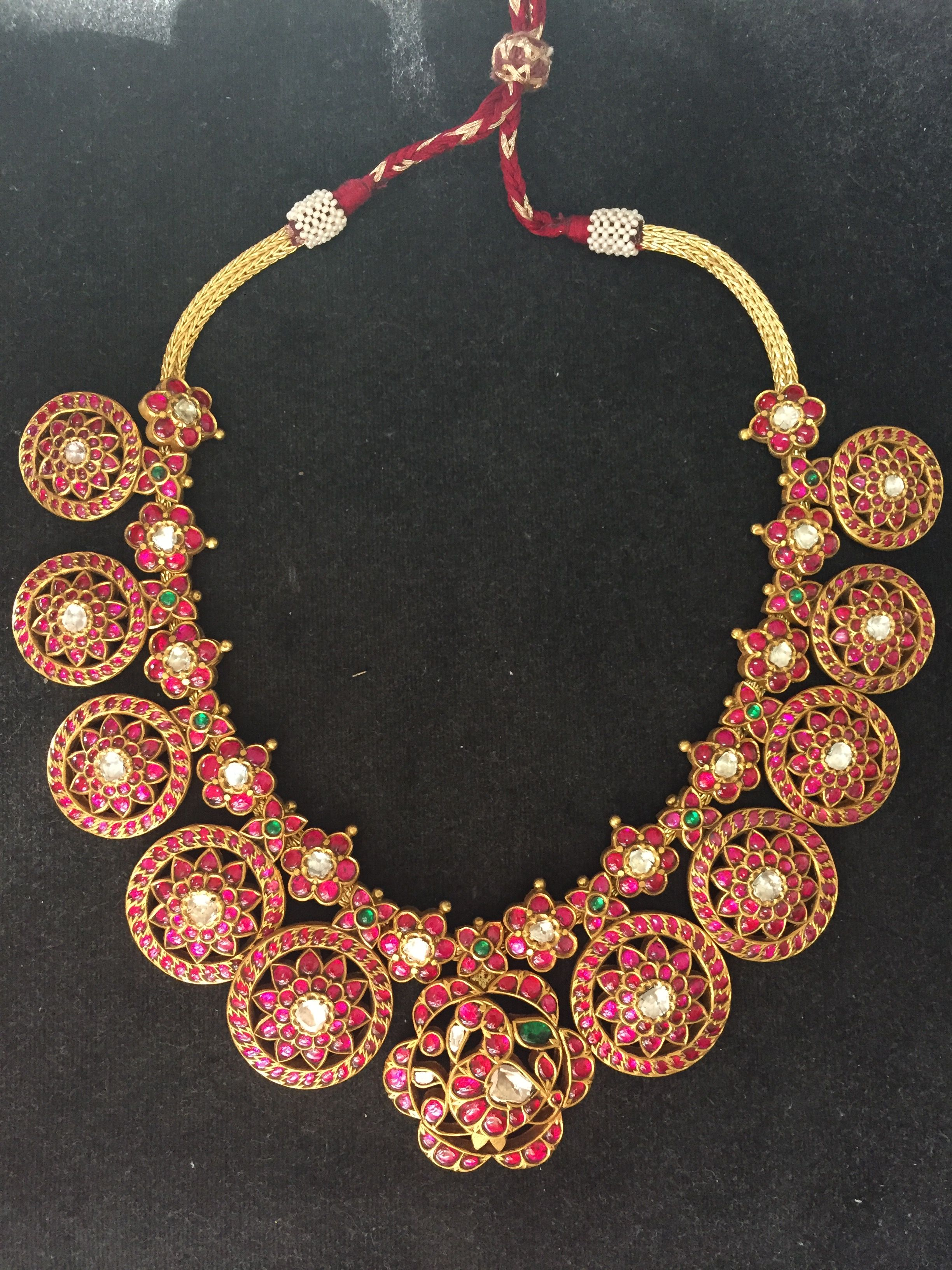 225 Grams Heavy Kundan Necklace Jewelery Indian Jewelry And 1 Set Perhiasan India Ruby With Uncut Emeralds Southindian Jewellery