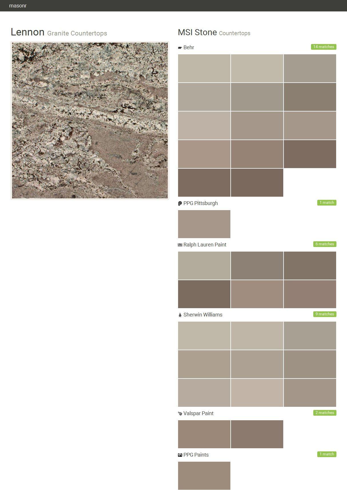 Granite Countertops. Countertops. MSI Stone. Behr. PPG Pittsburgh. Ralph
