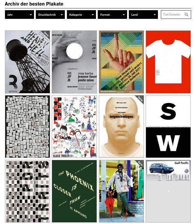Online-Archiv für 100 Beste Plakate freigeschaltet ...