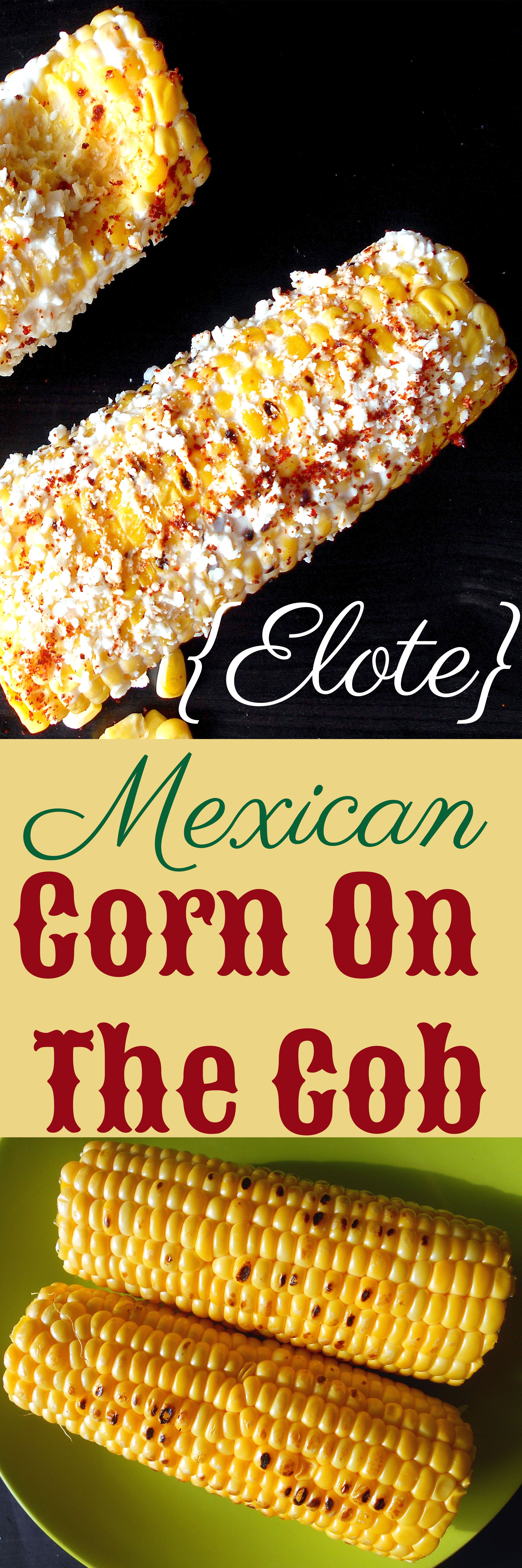 Mexican Corn on the Cob with Cotija cheese, lime and red pepper