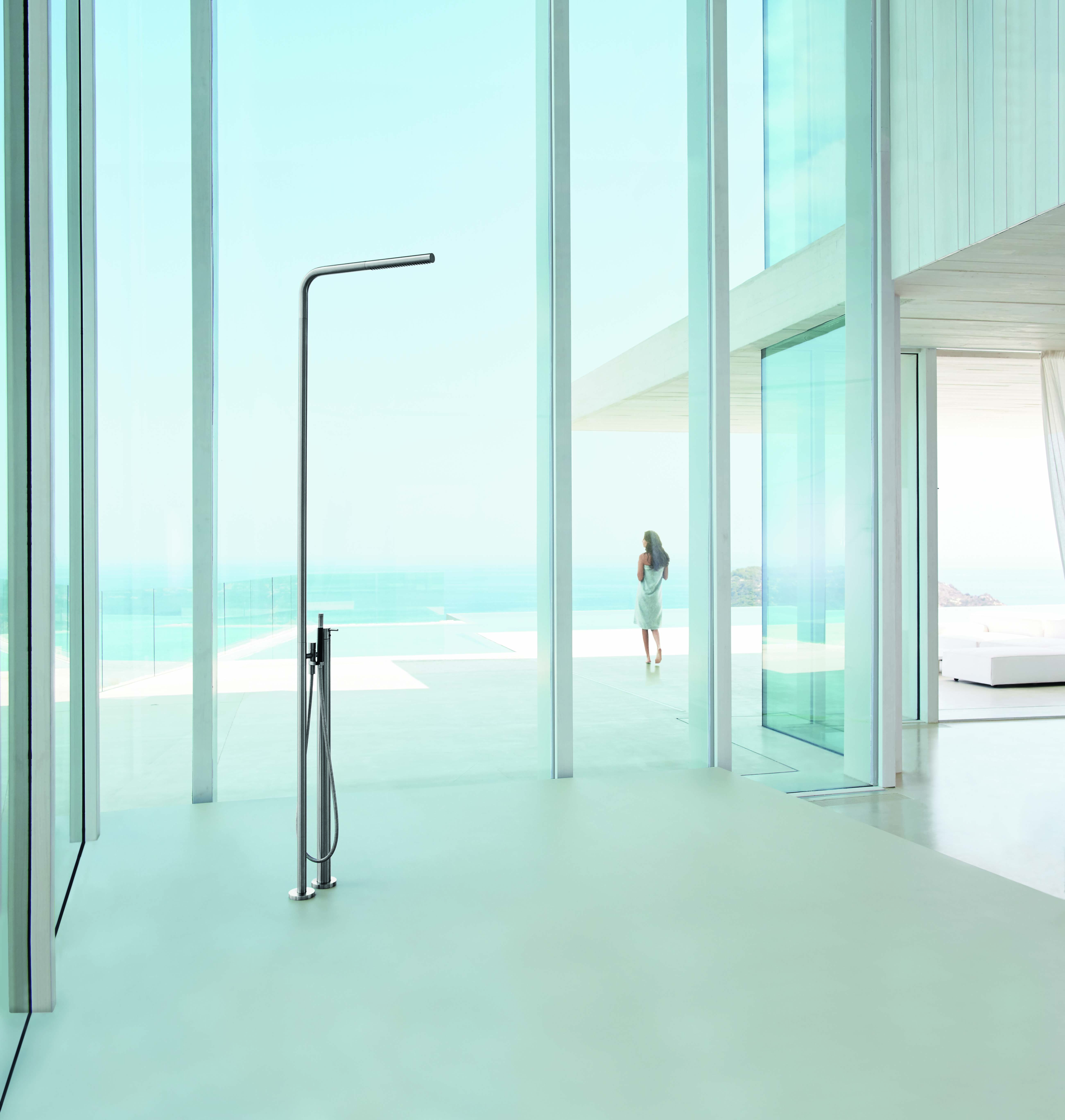 VOLA Free standing thermostatic shower with hand shower FS3