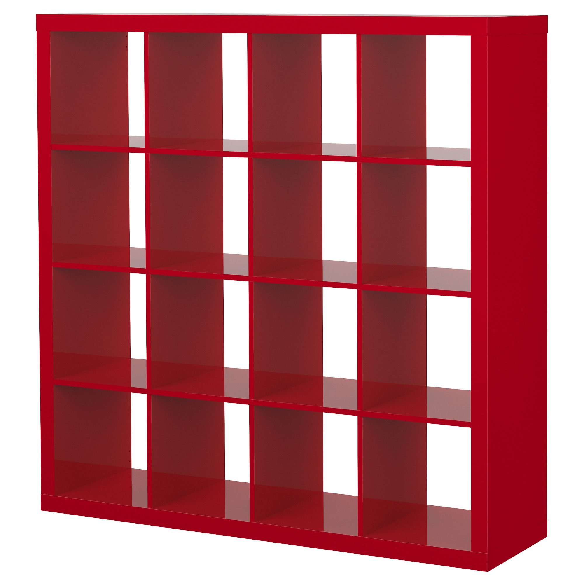 Expedit Shelving Unit High Gloss Red Ikea Libraries And  # Meuble Tv Kallax Ikea