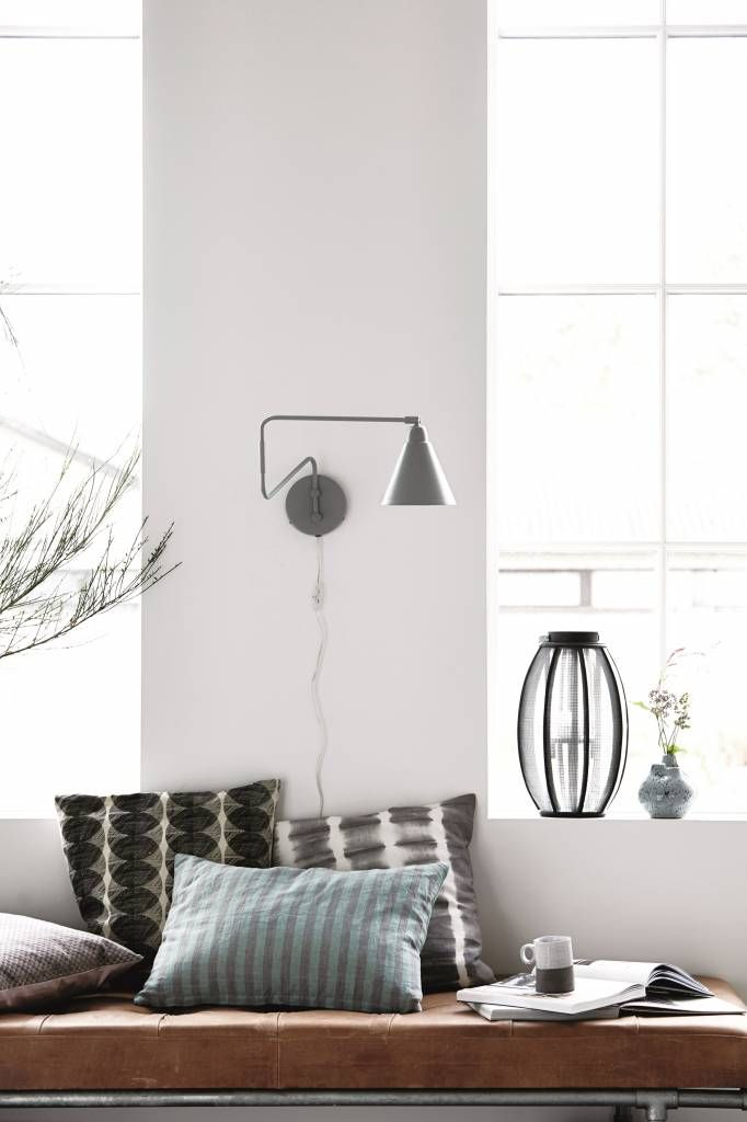 Beautiful Wall Lamp From The Game Collection From House Doctor With Articulated Arm And Thus To Move Anywhere White Wall Lights House Doctor Black Wall Lamps
