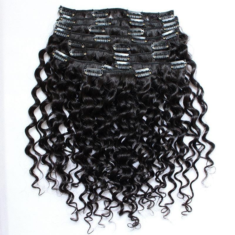 10a African American Clip In Human Hair Extension Brazilian Virgin