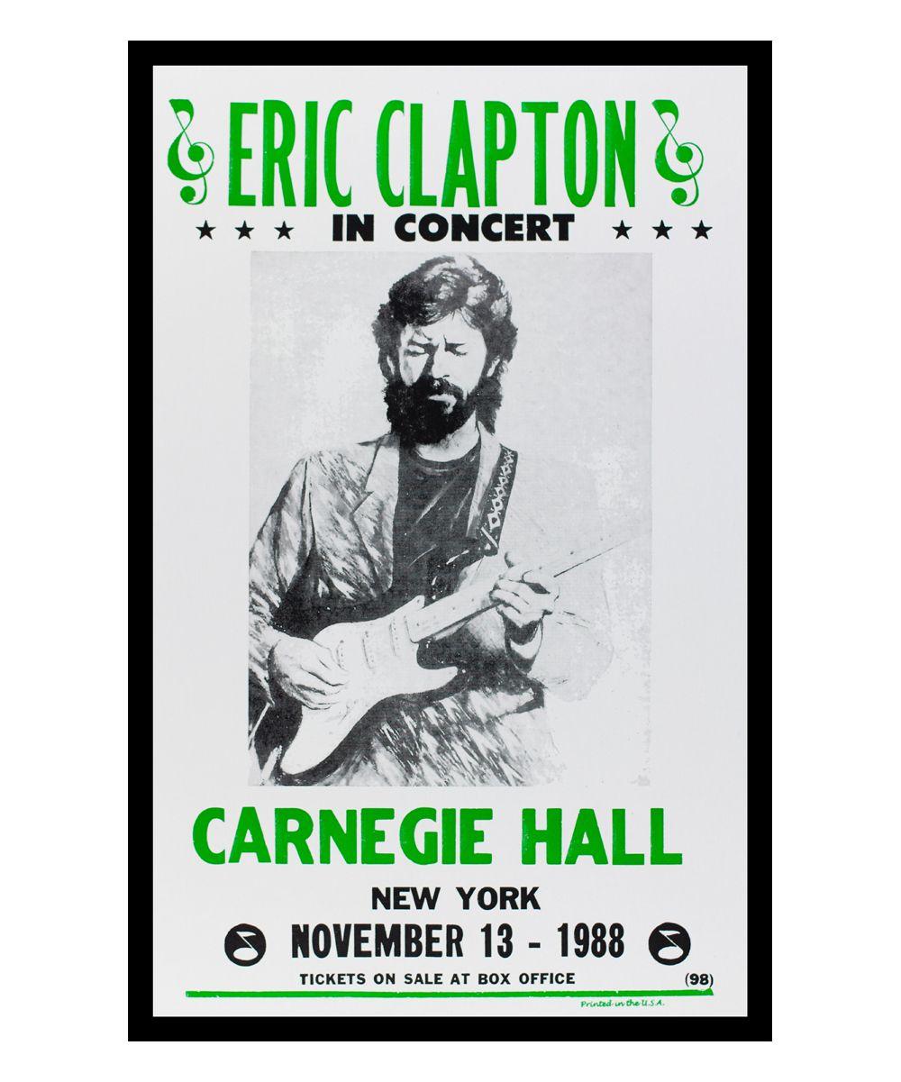 Eric Clapton Retro Concert Poster