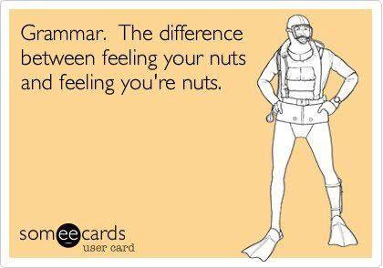 feeling your nuts, hehehe