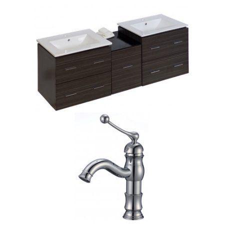 American Imaginations Xena 62'' Double Bathroom Vanity Set