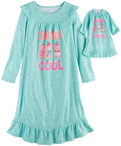 Amazing offer on So Little Girls' Holiday Fleece Nightgown Matching 18 inch Doll Pajamas online #18inchdollsandclothes