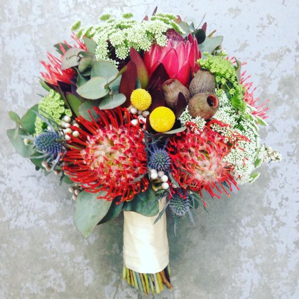 Wedding Flowers Melbourne: Australian Natives Wedding Bouquet