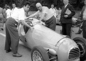 Marseille 1949. Juan Manuel Fangio. Photo © R. Betting Archive Maurice Louche