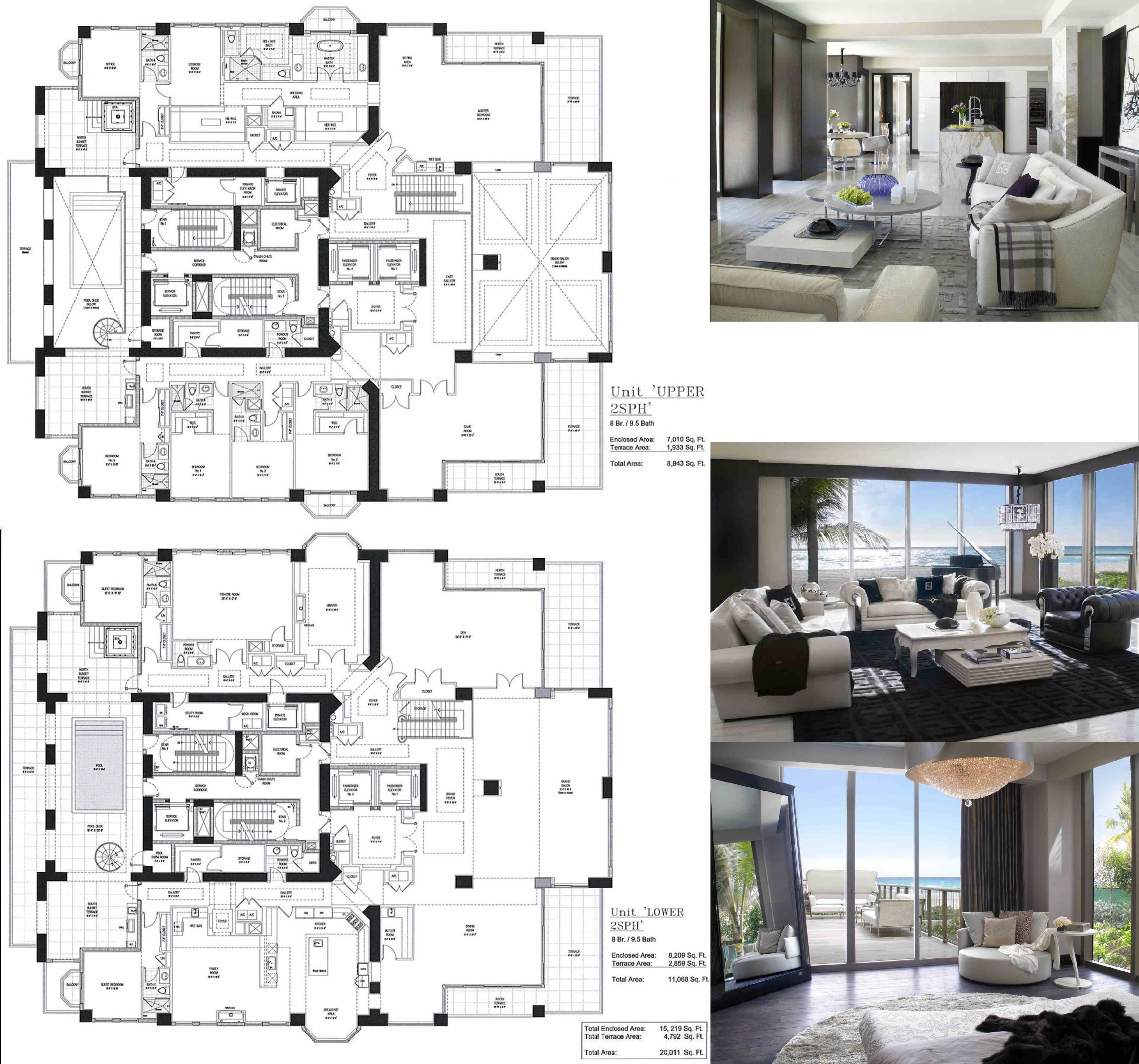 Here S The Floorplan To Florida S Future Priciest Penthouse Condo Floor Plans Floor Plans House Blueprints