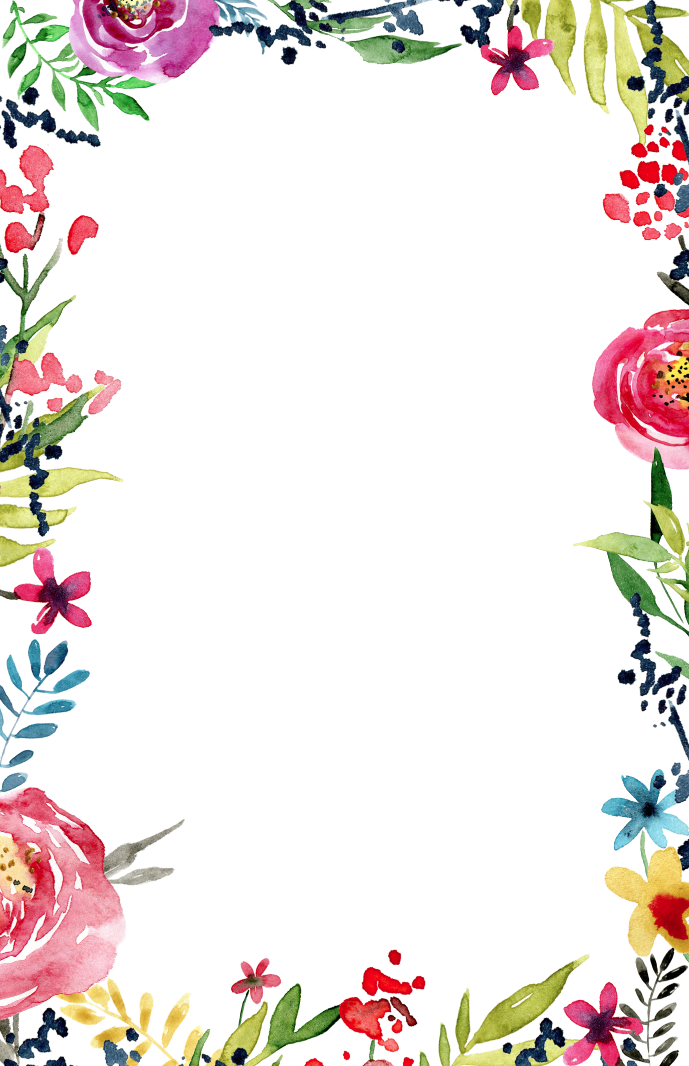 Floral Invitation Template free printable