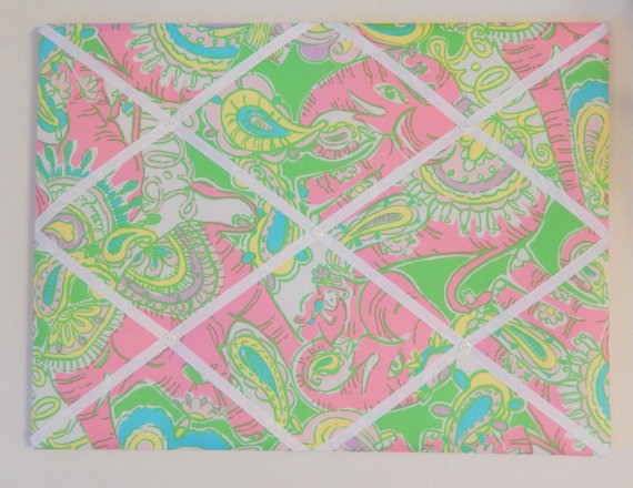 New Memo Board Made With Lilly Pulitzer Chin Chin Fabric Home Is Impressive Lilly Pulitzer Memo Board